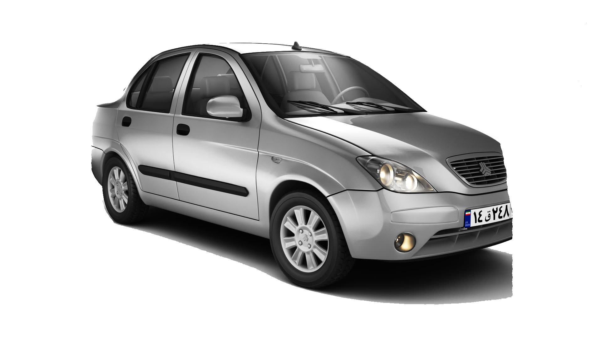 برچسب دودی شیشه خودرو مدل JC33 مناسب برای تیبا مجموعه 6 عددی